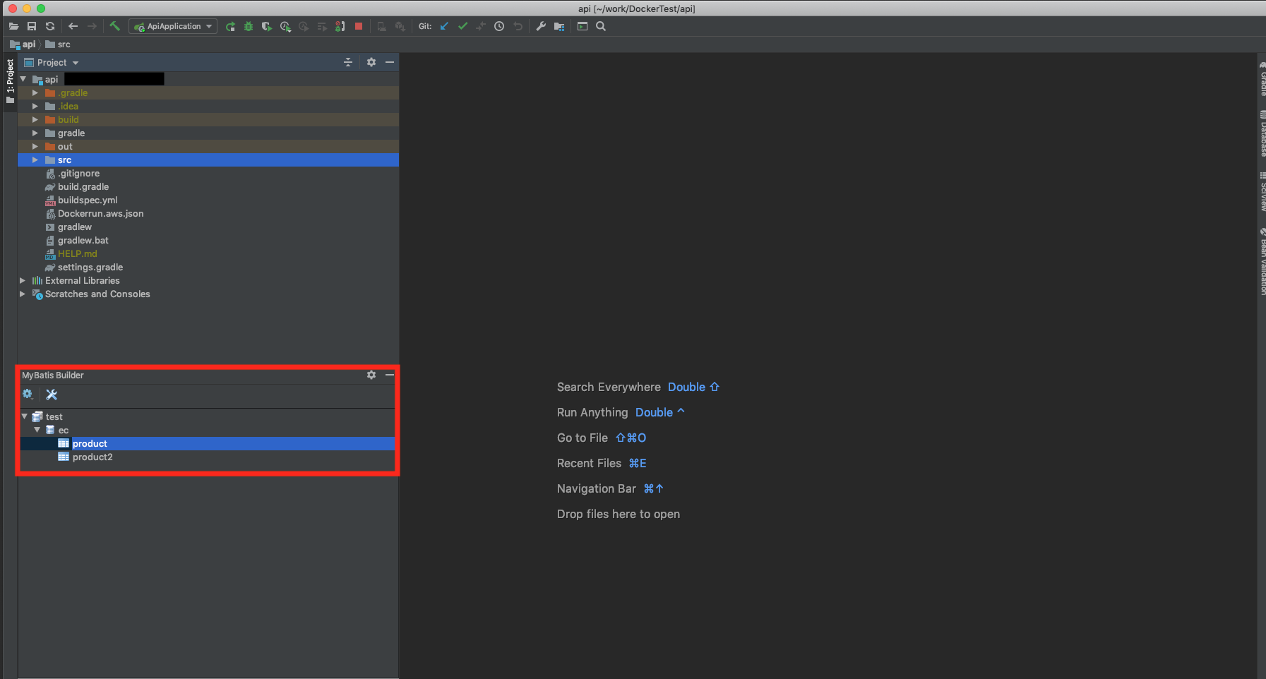 intelliJ mybatis generator plugin インストール