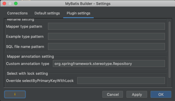 intelliJ mybatis plugin 設定